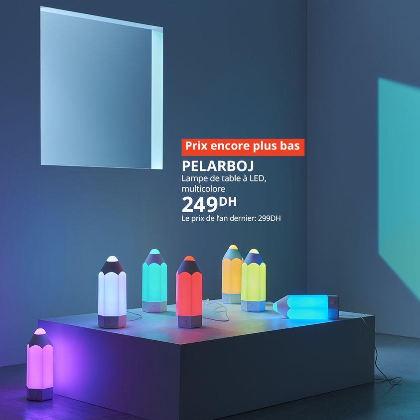 Soldes Ikea Maroc Lampe de table à LED PELARBOJ 249Dhs au lieu de 299Dhs