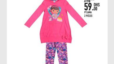 Soldes -50% chez Kids Avenue MH Pyjama 2 pièces 59Dhs au lieu de 118Dhs