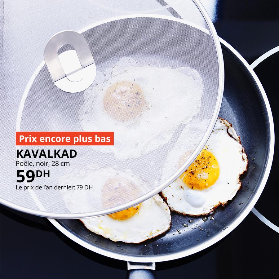 Soldes Ikea Maroc Poêle noir 28cm KAVALKAD 59Dhs au lieu de 79Dhs