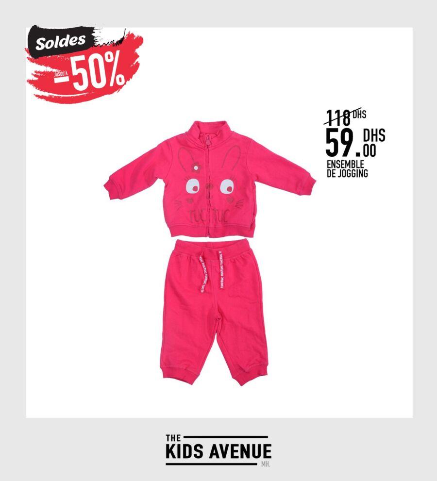 Soldes -50% chez Kids Avenue ensemble de jogging 59Dhs au lieu de 119Dhs