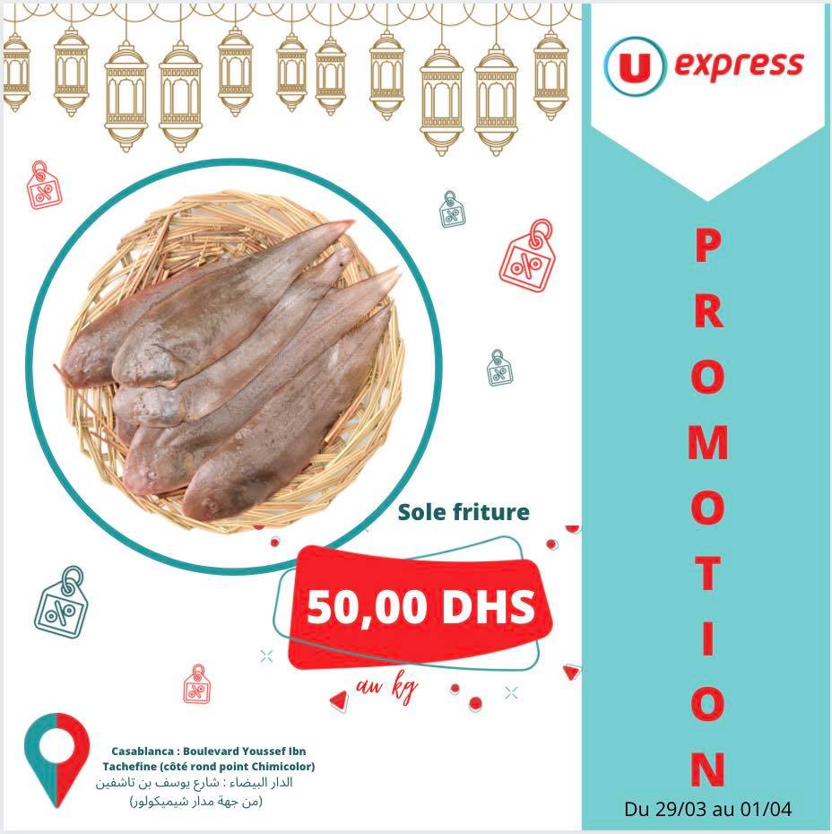 Offre Promotionnel UExpress Maroc Spécial Poisson Valable Jusqu'au 1 Avril 2021