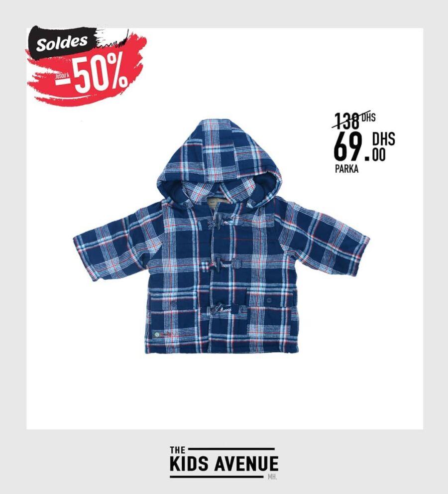Soldes -50% chez Kids Avenue Parka pour enfant 69Dhs au lieu de 138Dhs