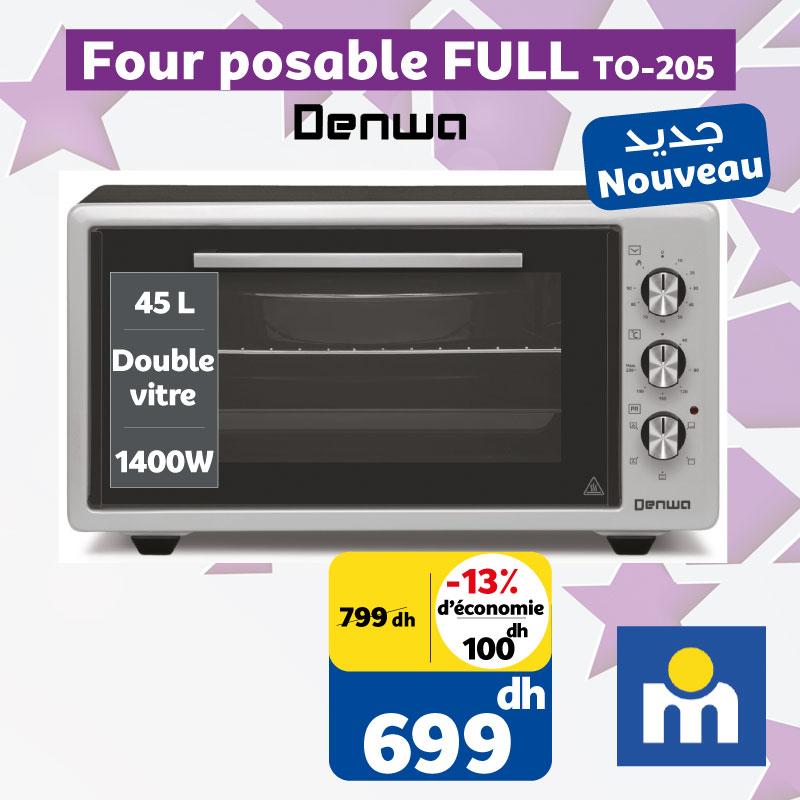 Soldes chez Marjane Four posable 45L DENWA 699Dhs au lieu de 799Dhs