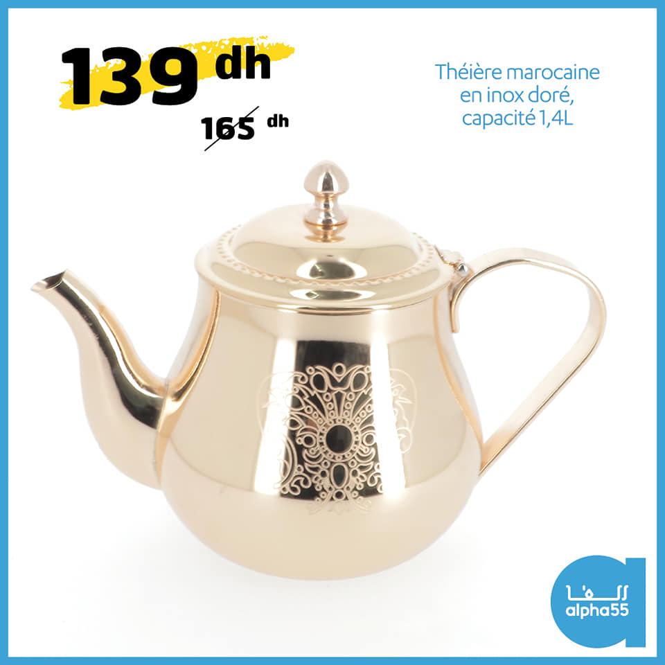 Offres Spécial C'est l'heure du thé chez Alpha55 Divers choix et coloris