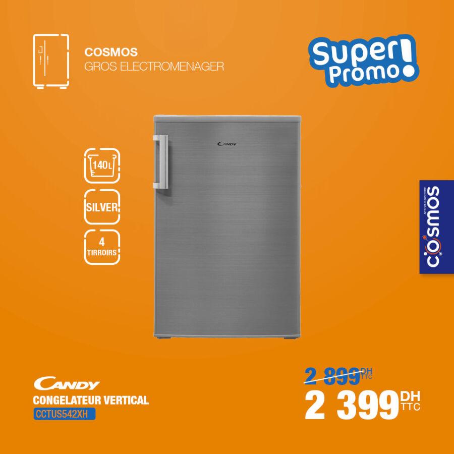 Super Promo Cosmos Electro Congélateur vertical CANDY 2399Dhs au lieu de 2899Dhs