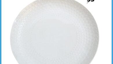 Soldes chez Alpha55 Plat de présentation en porcelaine 36cm 29Dhs au lieu de 39Dhs