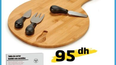 Offre Promotionnel Alpha55 Planche à gromage bambou + ustensiles 95Dhs au lieu de 139Dhs