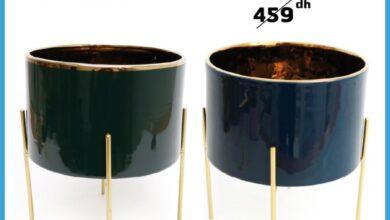 Offre Promotionnel Alpha55 Pot intérieur 19.5x20cm 399Dhs au lieu de 159Dhs