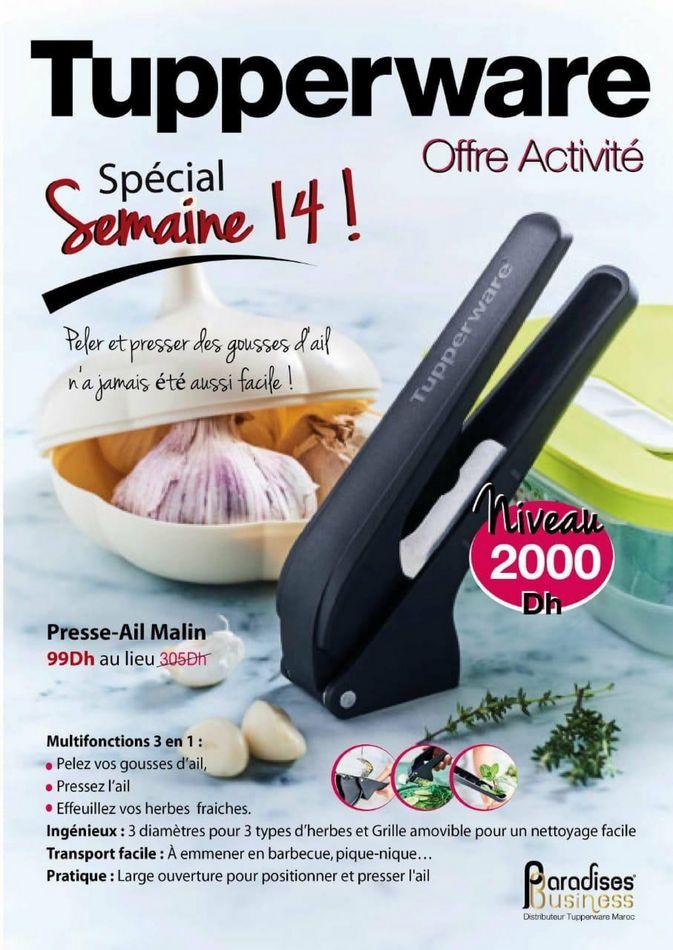 Catalogue Tupperware Maroc Spécial Semaine 14 Jusqu'au 11 Avril 2021