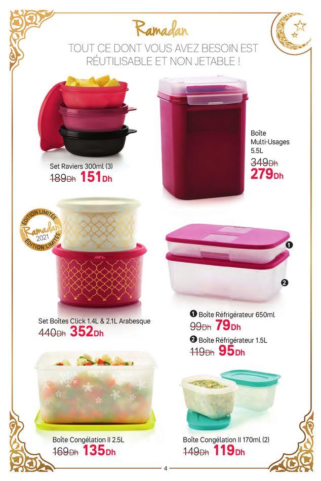 Catalogue Tupperware Maroc Spécial Ramadan du 7 au 25 Avril 2021