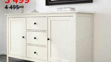 Soldes Ikea Maroc Buffet teinté blanc HEMNES 3499Dhs au lieu de 4495Dhs