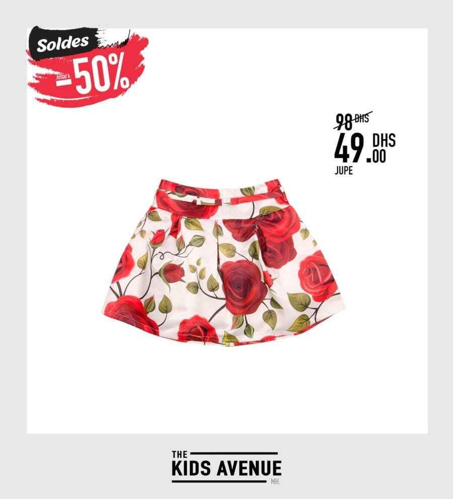 Soldes -50% Kids Avenue MH Jupe pour fille 49Dhs au lieu de 98Dhs