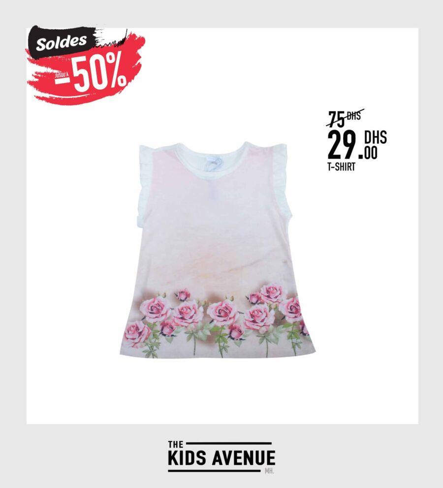 Soldes Kids Avenue MH T-shirt pour fille 29Dhs au lieu de 75Dhs