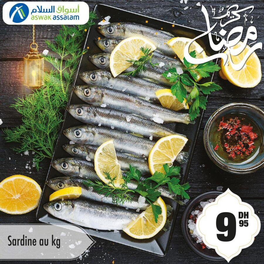 Offres Spécial Poissons et viandes Ramadan chez Aswak Assalam