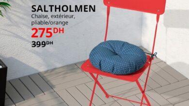 Soldes Ikea Maroc Chaise extérieur pliable SALTHOLMEN 275Dhs au lieu de 399Dhs