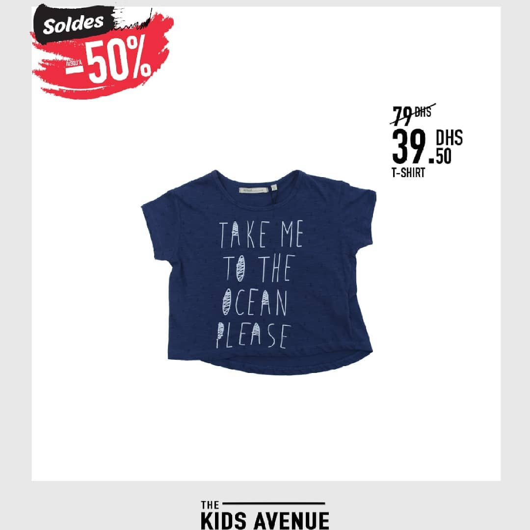 Soldes Kids chez Avenue MH T-shirt pour fille 39.50Dhs au lieu de 79Dhs