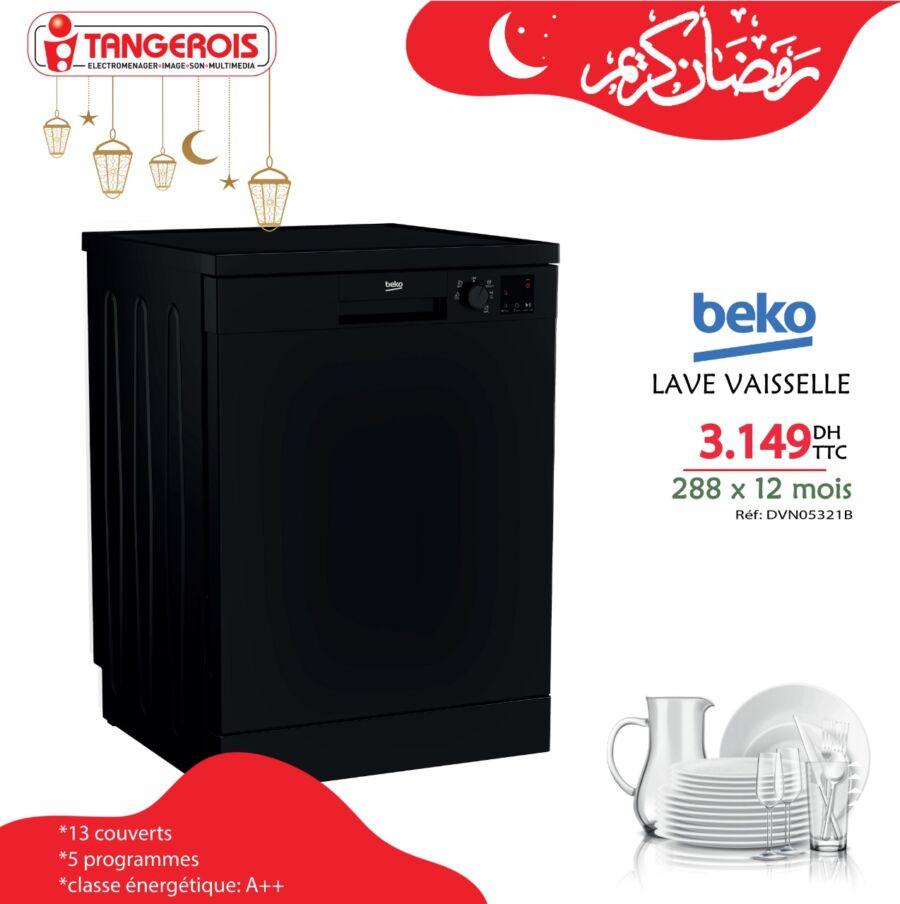 Offres du Ramadan chez Tangerois Electro Lave vaisselle 3149Dhs