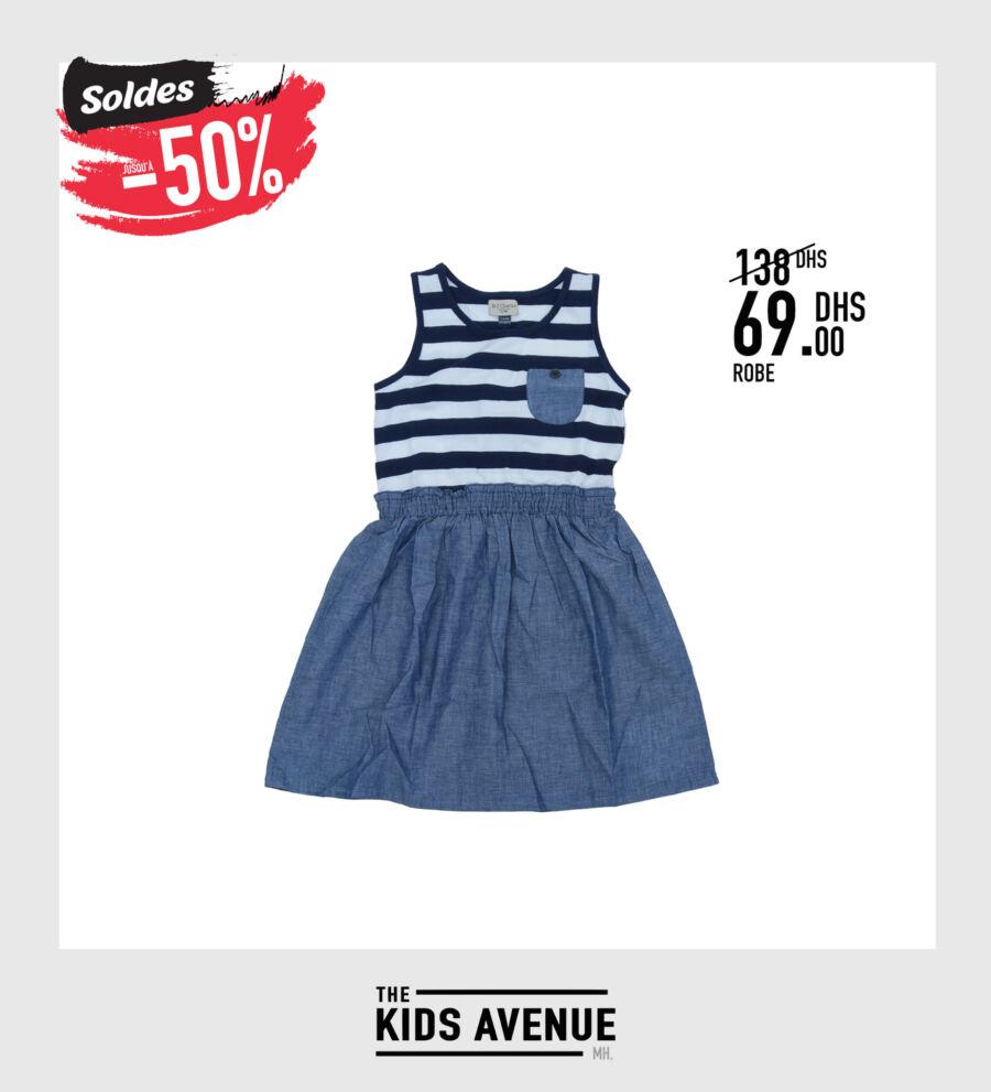 Soldes chez Kids Avenue MH Robe pour fille 69Dhs au lieu de 138Dhs