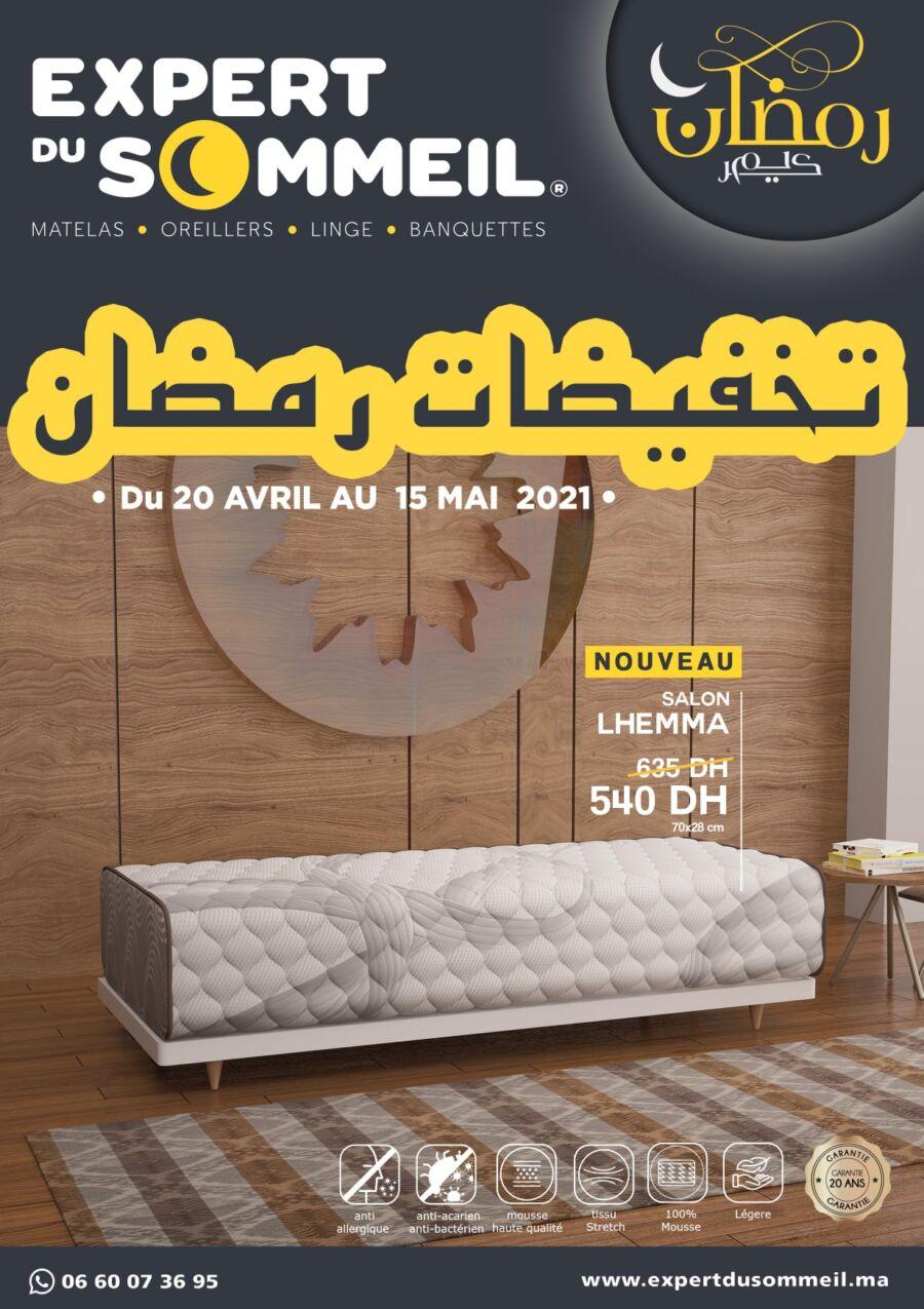 Catalogue Expert du Sommeil تخفيضات رمضان du 20 Avril au 15 Mai 2021