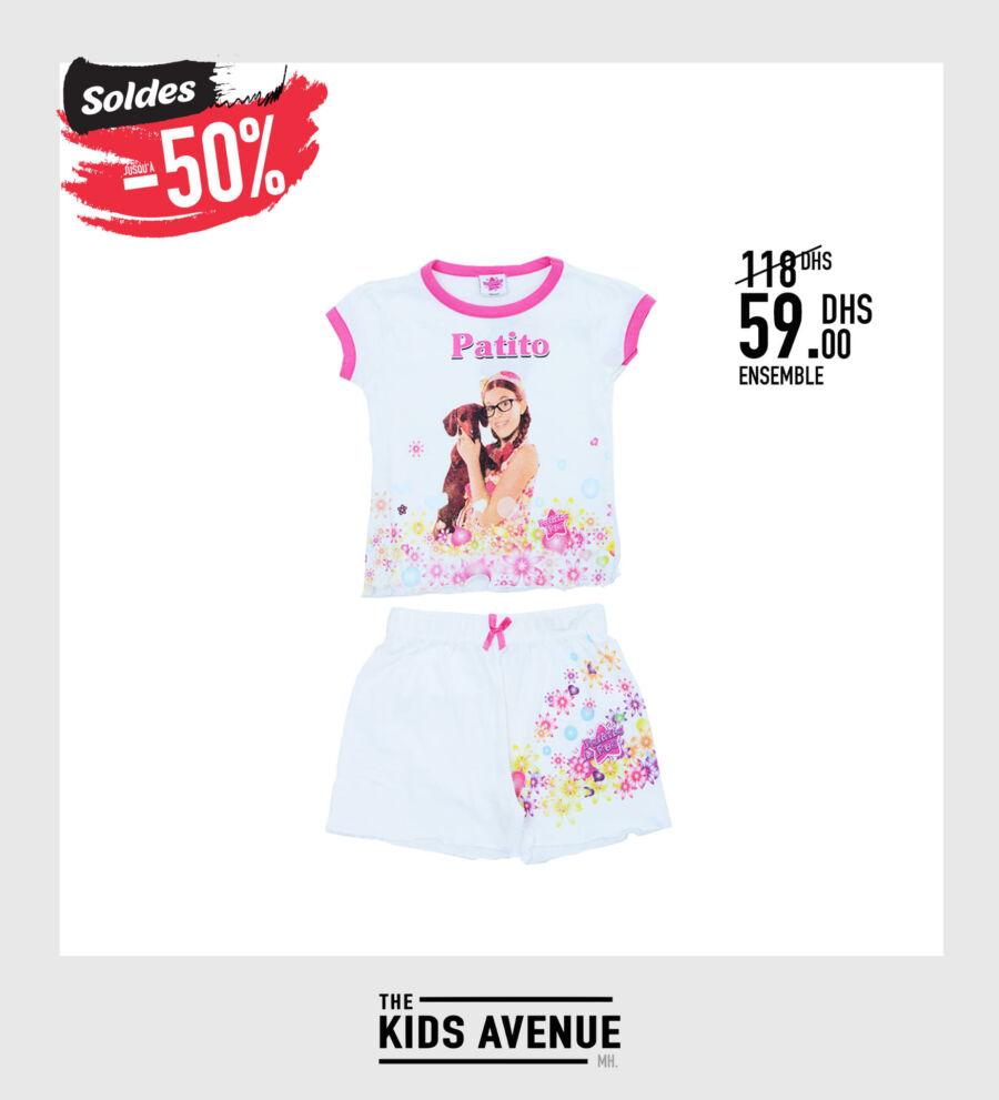 Soldes Kids Avenue MH Ensemble pour fille 59Dhs au lieu de 118Dhs