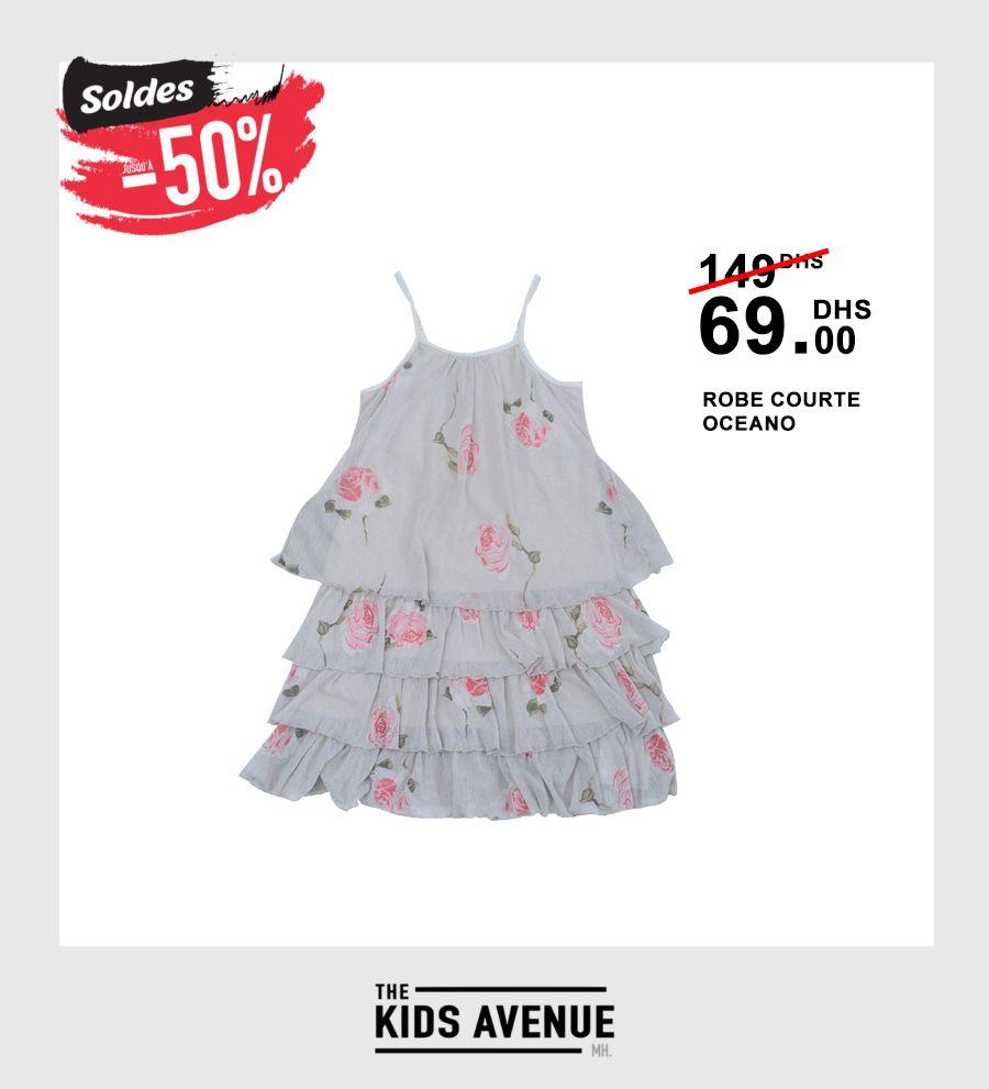 Soldes Kids Avenue MH Robe courte OCEANO 69Dhs au lieu de 149Dhs