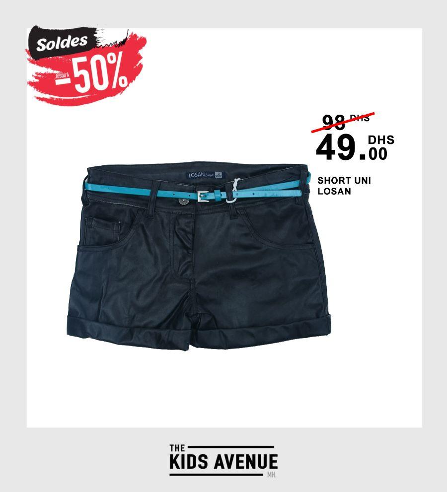 Soldes Kids Avenue MH Short uni LOSAN 49Dhs au lieu de 98Dhs