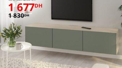 Soldes Ikea Maroc Banc TV avec portes BESTA 1677Dhs au lieu de 1830Dhs
