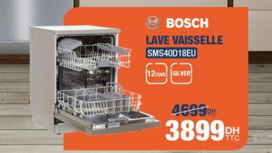 Soldes Cosmos Electro Lave Vaisselle 12couv BOSCH 3899Dhs au lieu de 4699Dhs