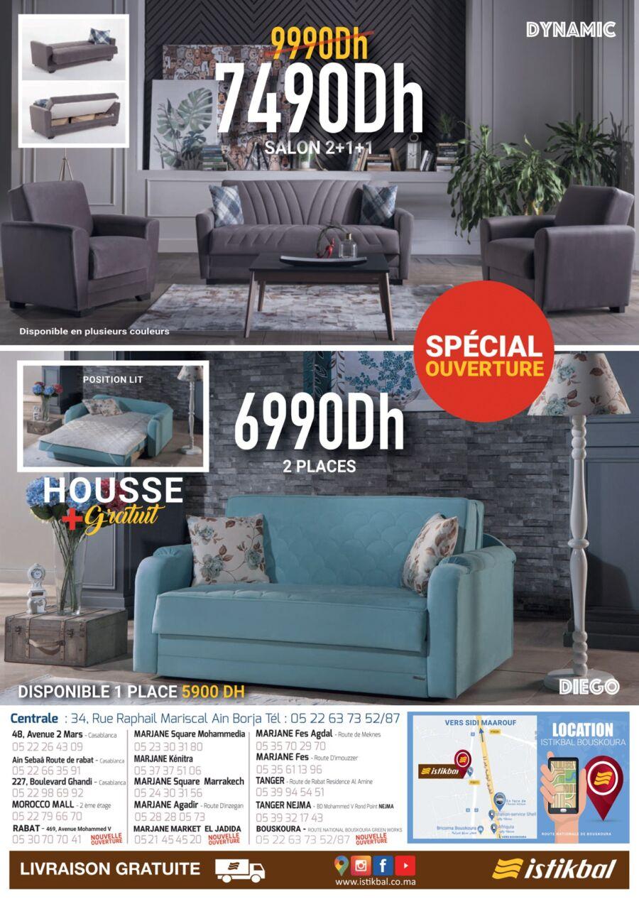Catalogue Istikbal Maroc Spécial Ouverture nouveau magasin Bouskoura