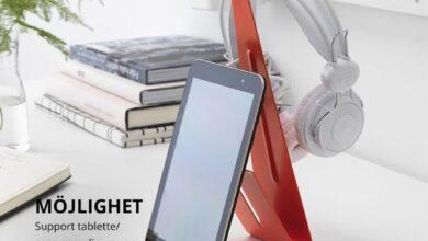 Soldes Ikea Maroc Support tablette et Casque MOJLIGHET 29Dhs au lieu de 39Dhs