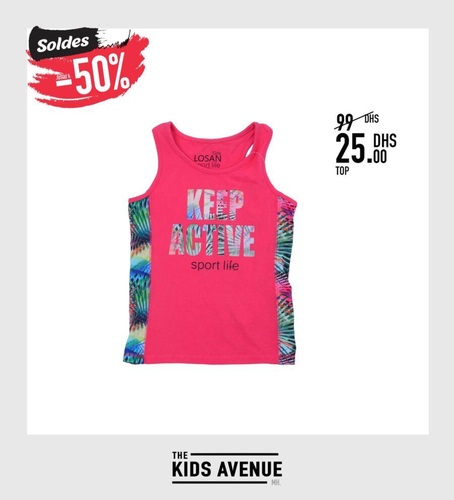 Soldes Kids Avenue MH Débardeur pour fille 25Dhs au lieu de 99Dhs