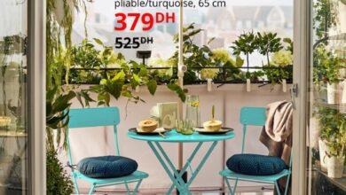 Soldes Ikea Maroc Table extérieur pliable SALTHOLMEN 379Dhs au lieu de 525Dhs