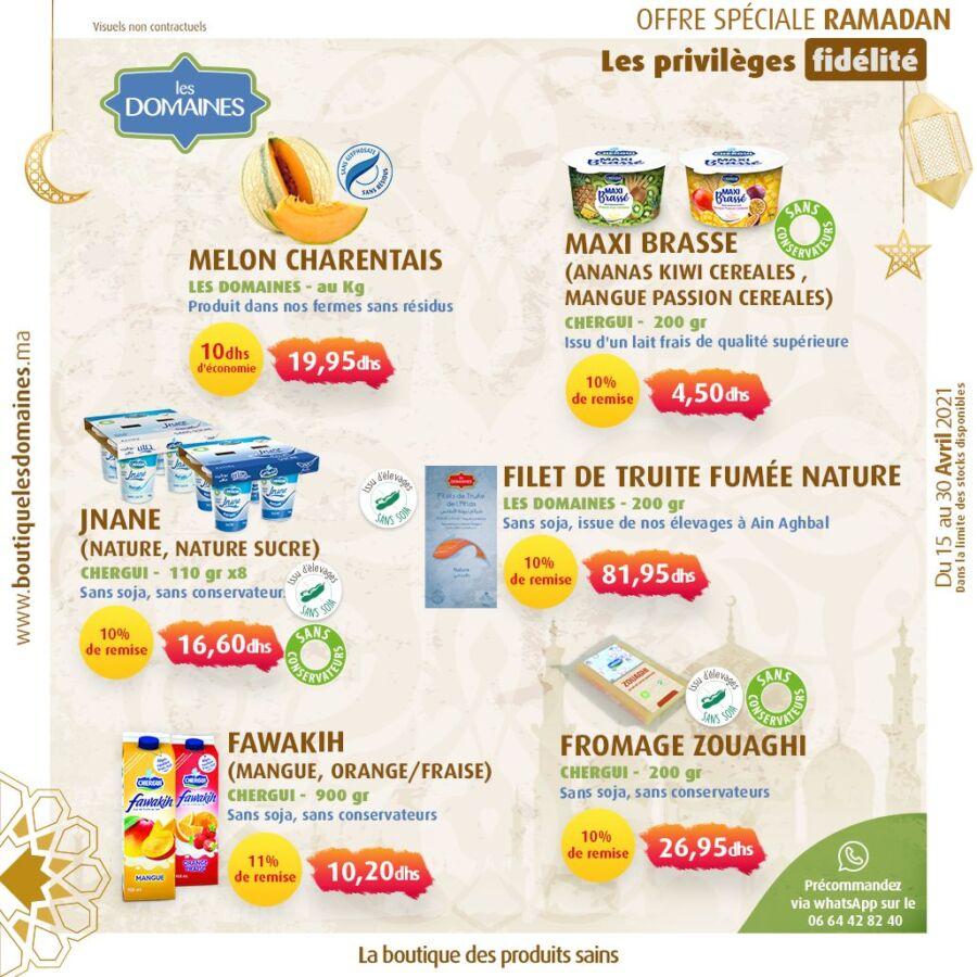Catalogue Offres Ramadan Les Domaines Agricoles Jusqu'au 30 Avril 2021