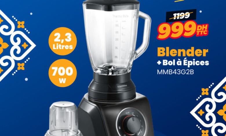 Soldes Electro Bousfiha Blender 2.3L BOSCH 999Dhs au lieu de 1199Dhs