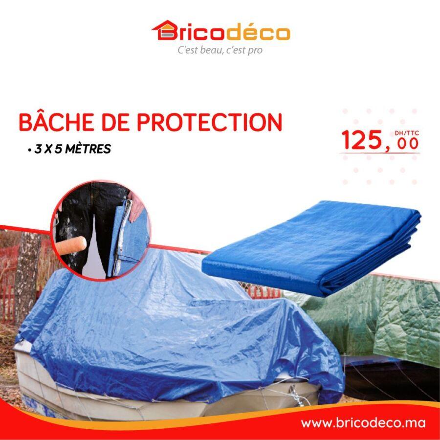 Offres Spéciales chez Bricodéco Bâche de protection à partir de 62.95Dhs