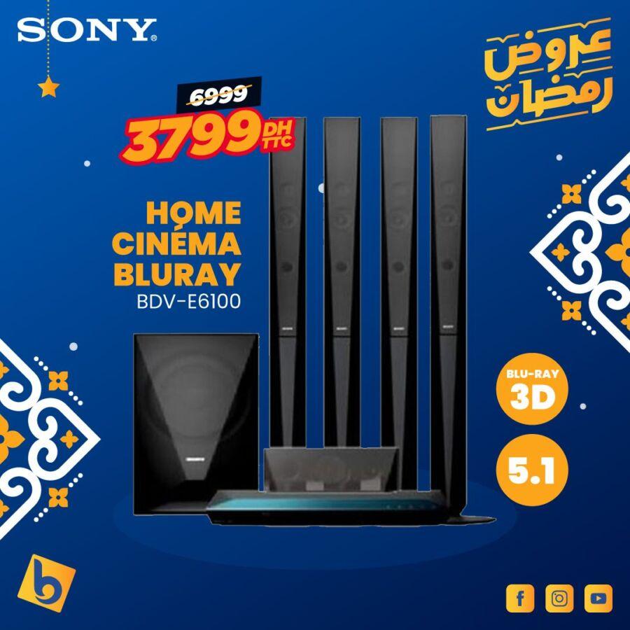 Soldes Electro Bousfiha Home cinéma BLURAY 3D SONY 3799Dhs au lieu de 6999Dhs