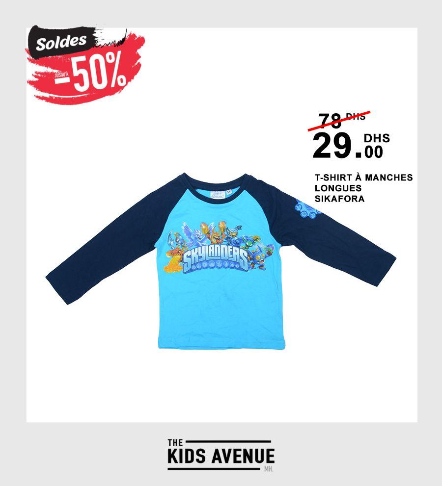 Soldes Kids Avenue MH T-shirt à manches longues - SIKAFORA 29Dhs au lieu de 78Dhs