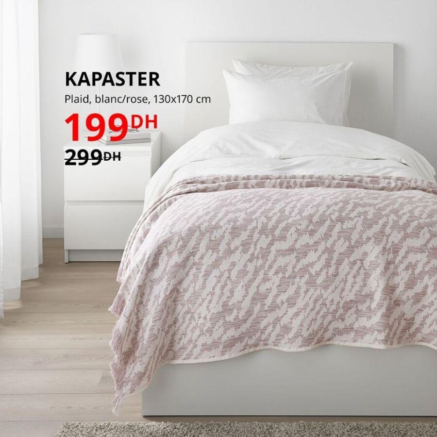 Soldes Ikea Maroc Plaid 130x170cm KAPASTER 199Dhs au lieu de 299Dhs