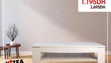 Soldes Kitea Table basse blanche BALEA 1195Dhs au lieu de 1695Dhs