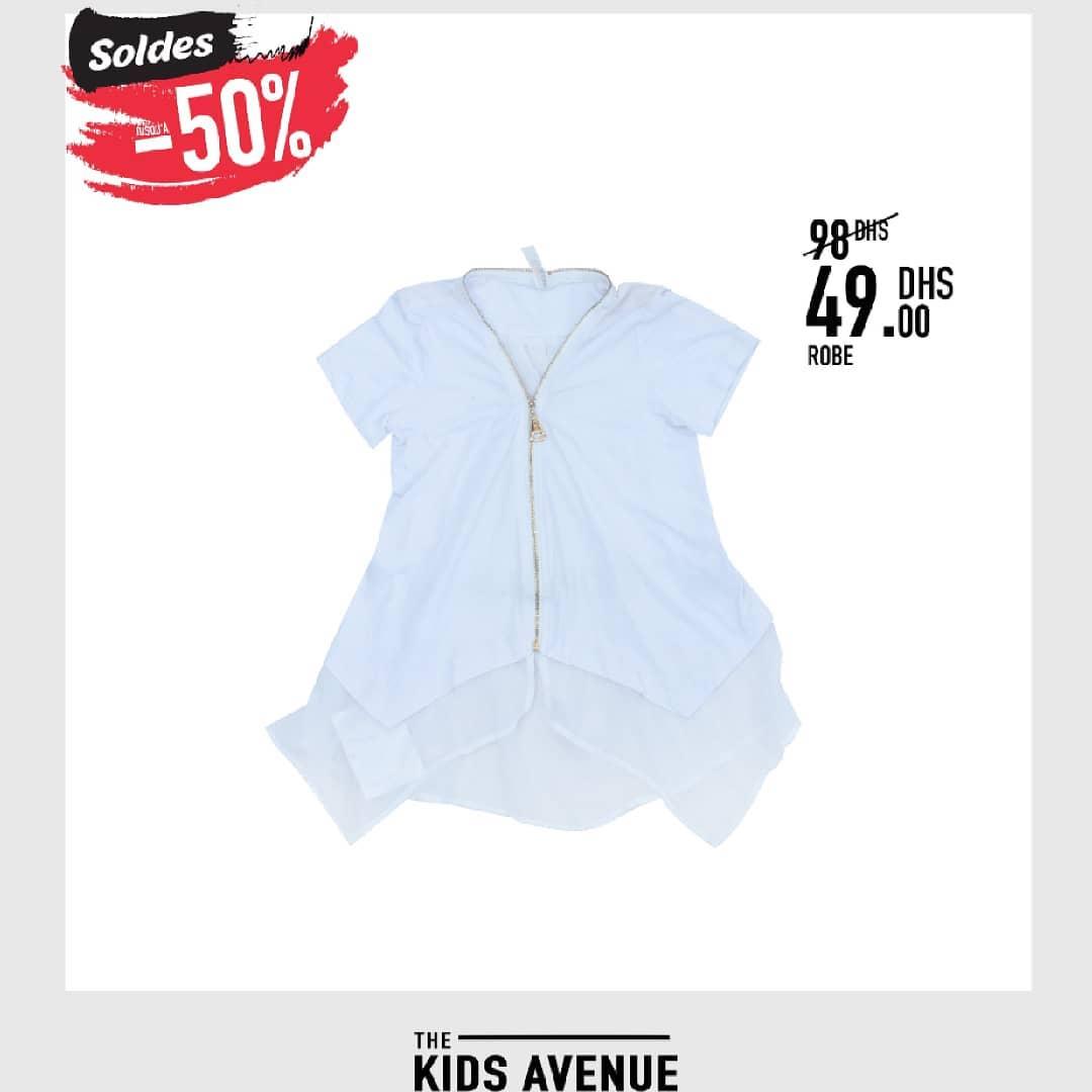 Soldes Kids chez Avenue MH Robe pour fille 49Dhs au lieu de 98Dhs