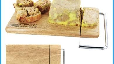 Nouveau chez Alpha55 Coupe fromage et foie gras en bois et inox 135Dhs