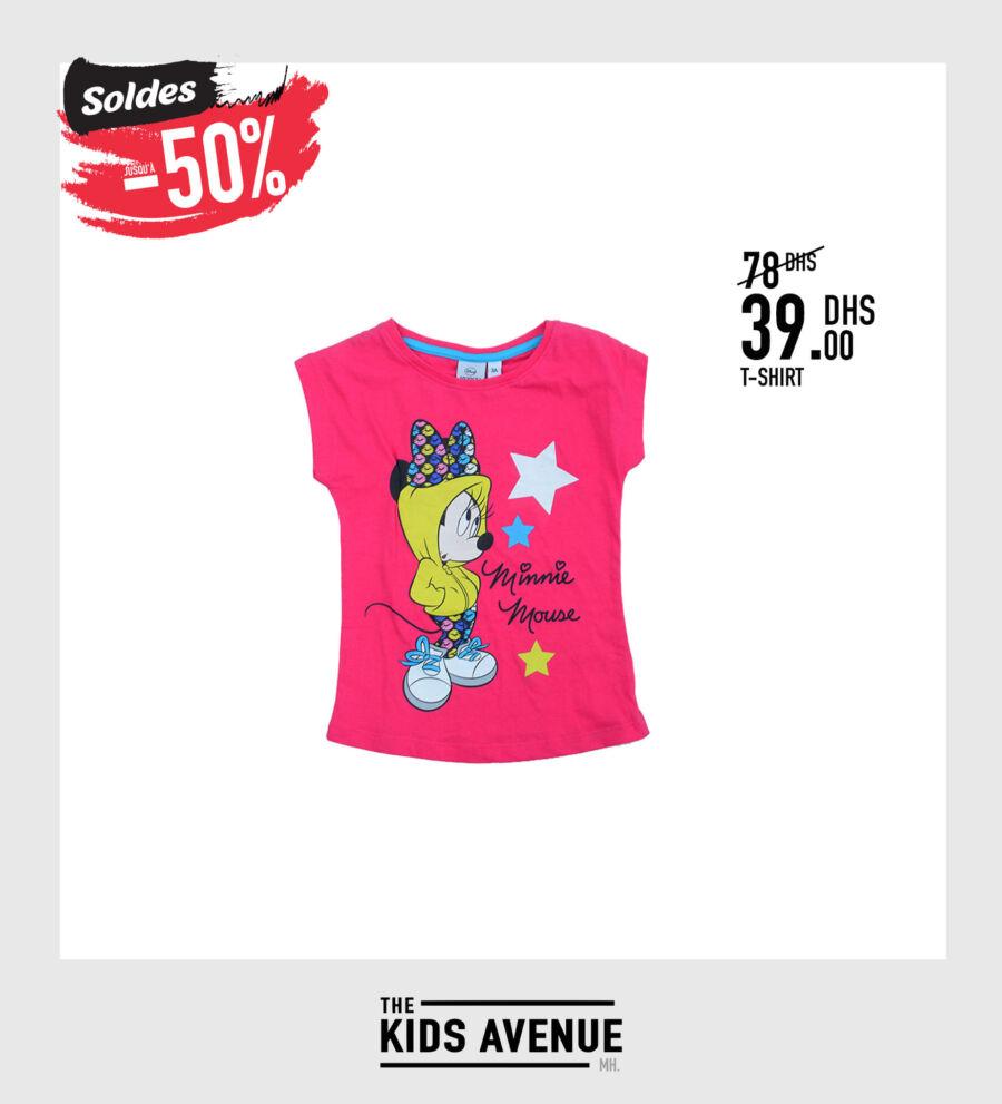 Soldes Kids Avenue MH T-shirt pour fille 39Dhs au lieu de 78Dhs