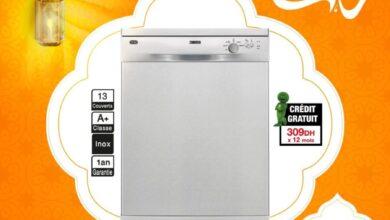 Offres du Ramadan Aswak Assalam Lave-vaisselle ZANUSSI 13couv 3699Dhs