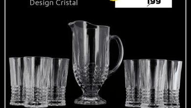 Soldes Alpha55 Service à jus7 pièces design Cristal 95Dhs au lieu de 199Dhs