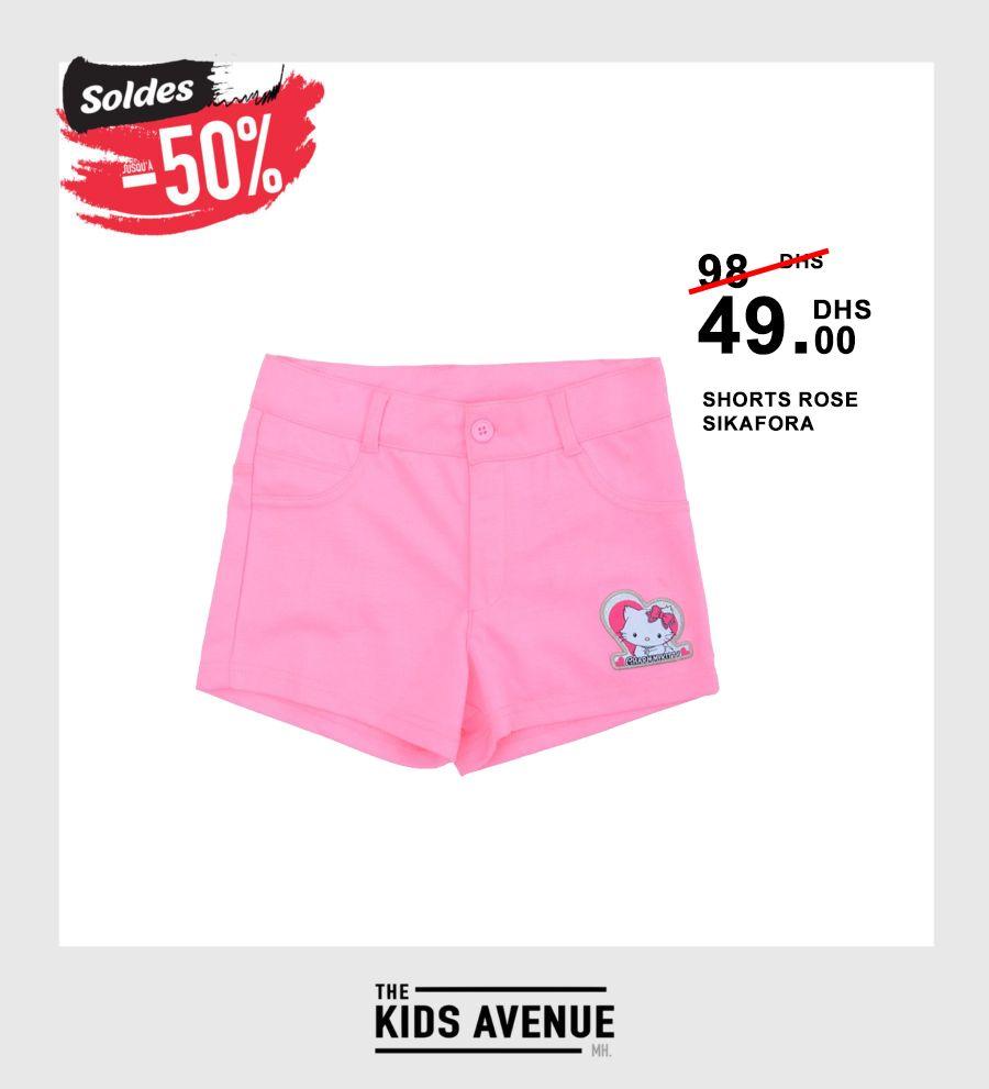 Soldes Kids Avenue MH Shorts ROSE SIKAFORA 49Dhs au lieu de 98Dhs