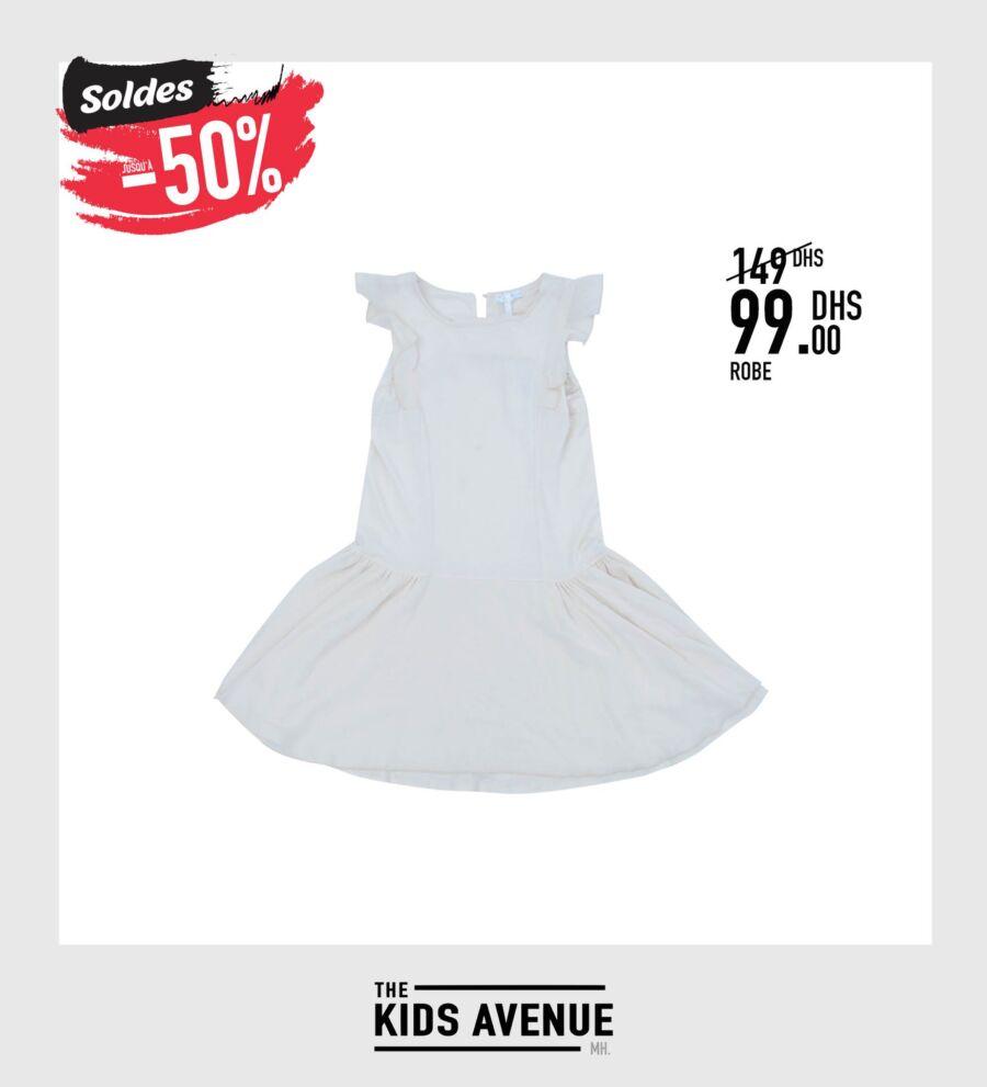 Soldes Kids Avenue MH Robe pour fille 99Dhs au lieu de 149Dhs