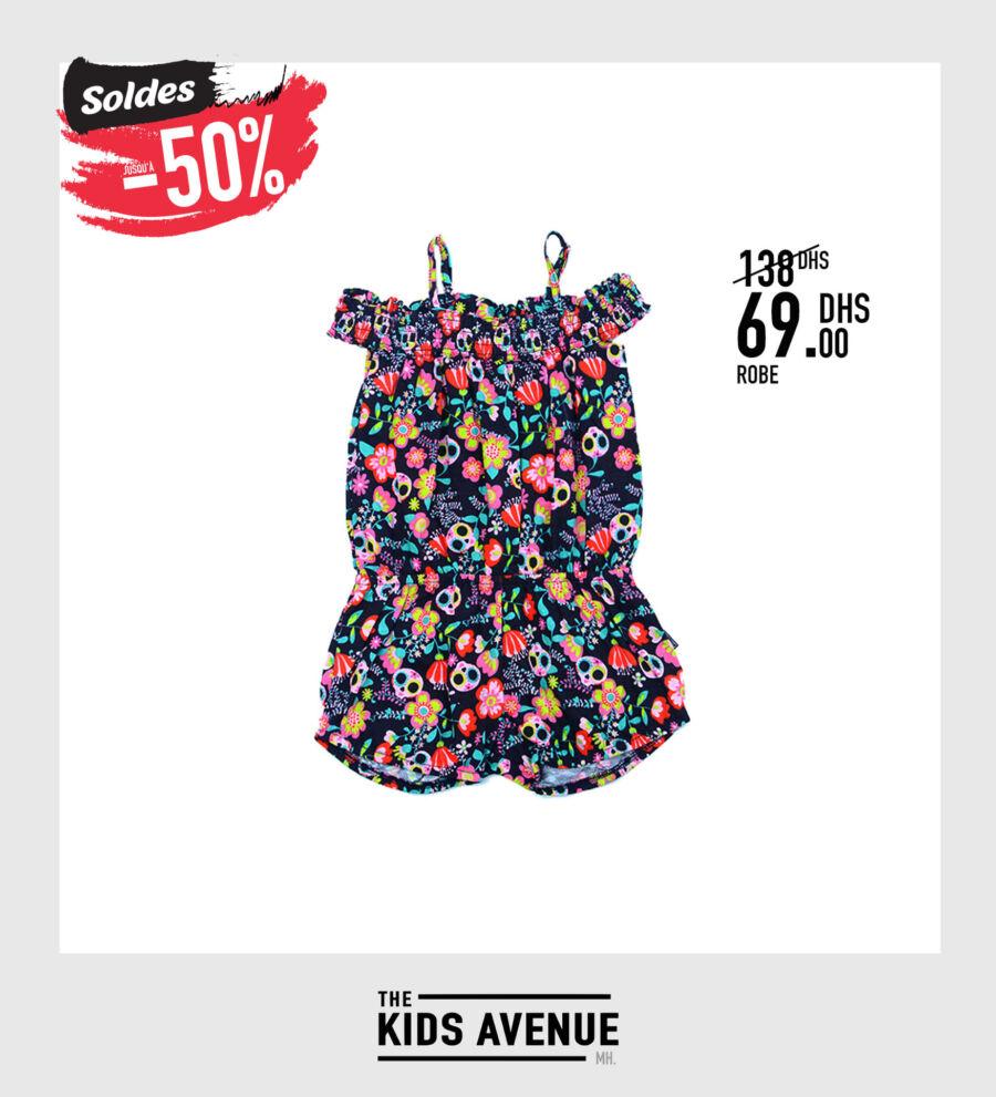 Soldes Kids Avenue MH Robe pour fille à 69Dhs au lieu de 138Dhs
