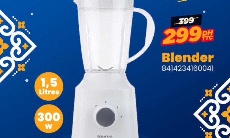 Electro Bousfiha Blender 1.5L TAURUS 299Dhs au lieu de 399Dhs