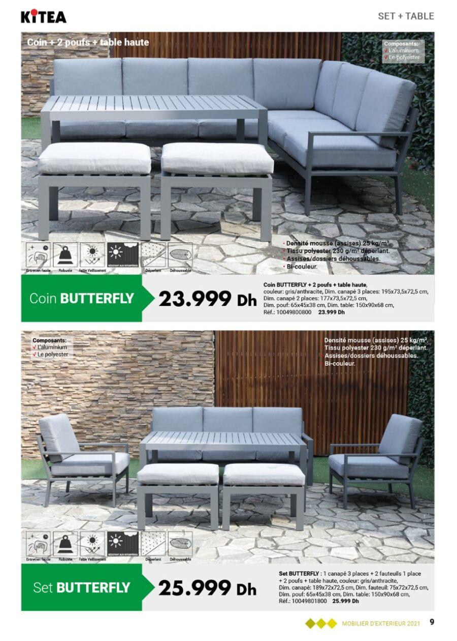 Catalogue Kitea Nouvelle Collection mobilier d'extérieur Jusqu'au 31 Mai 2021