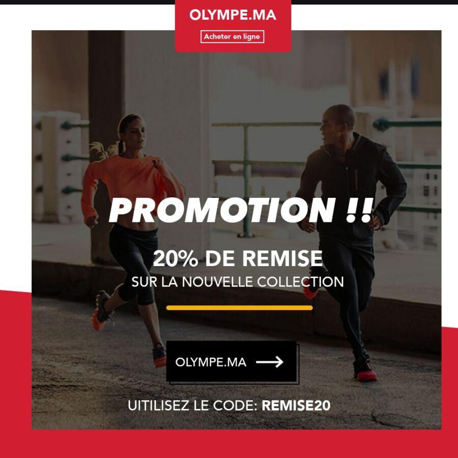 Code Promo Nouvelle collection 20% de remise chez Olympe Store